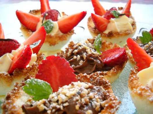 Cestini al cocco dessert originale