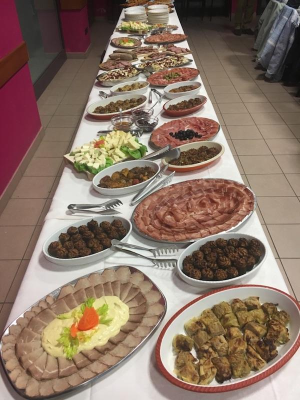 buffet aperitivo cena