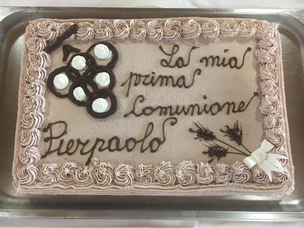 torta fantasia cioccolato prima comunione